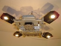 spaceship orion, ceiling halogen lamp