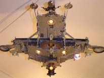 spaceship sirius, ceiling halogen lamp